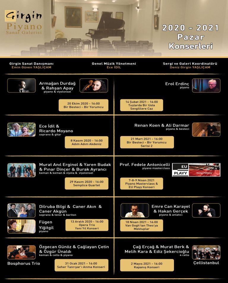 2020-2021 Konser Programı